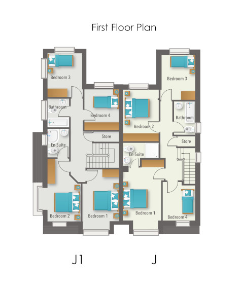 Glenmore Wood House Type J & J1 - First Floor