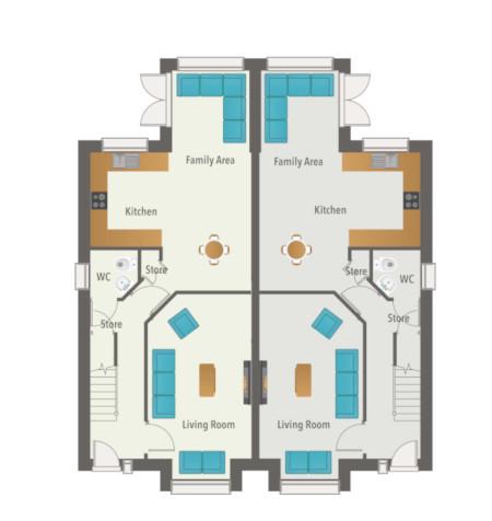 Glenmore Wood House Type L - Ground Floor